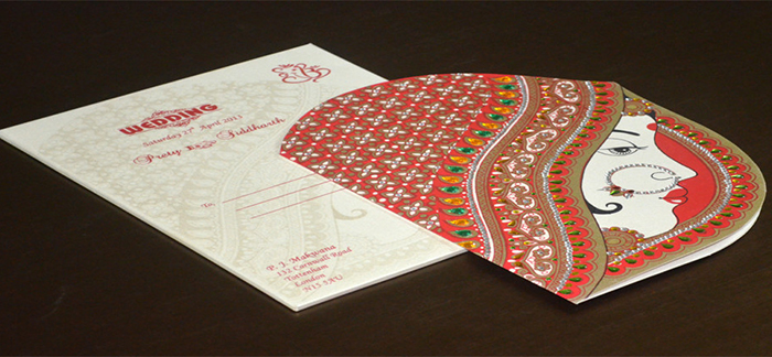 Invitation card for hindu marriage