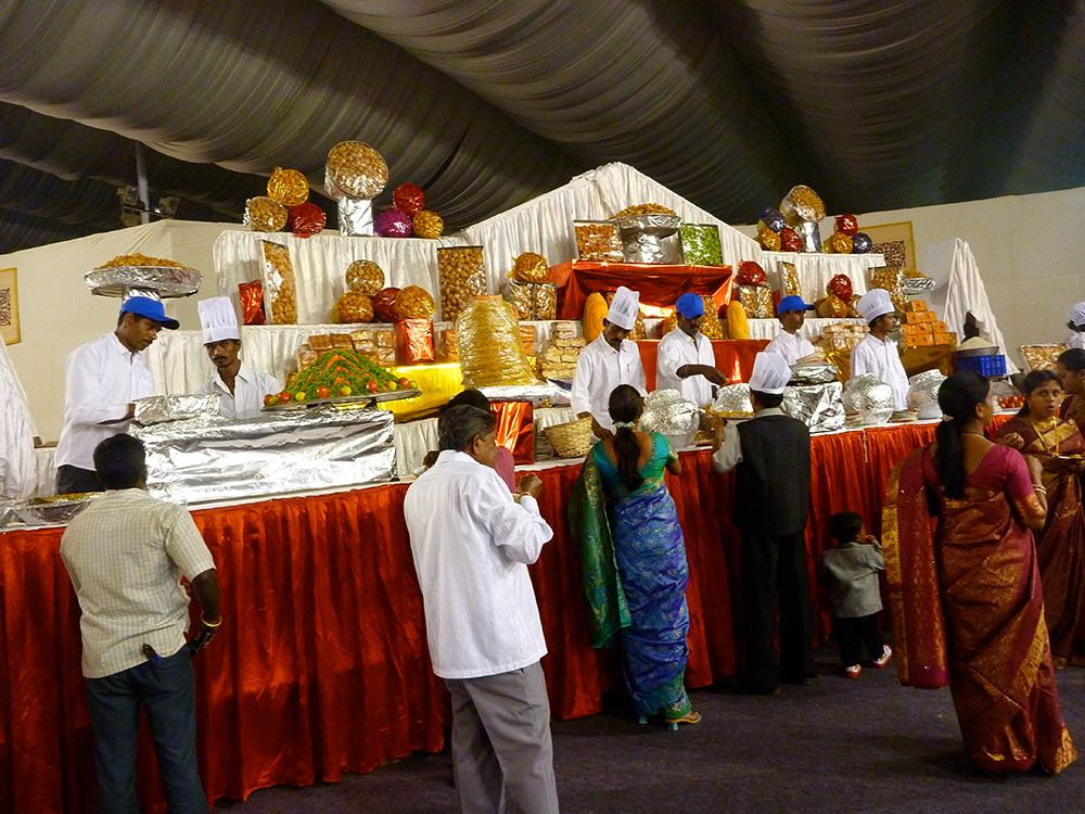 Indian wedding food