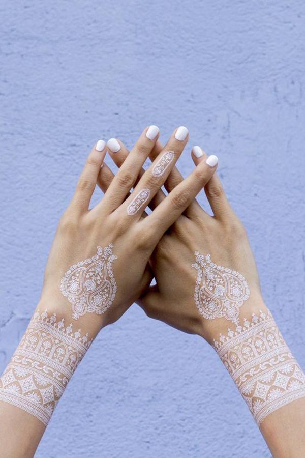 White Mehendi Tattoos