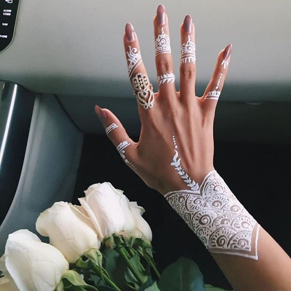 White Henna Designs For Beach Weddings White Mehendi Designs White