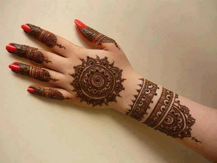 Mehndi Hands Designs : Arabic mehendi designs inspired by minimalist theme bridal